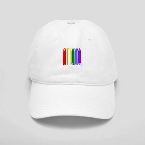 Ottawa Gay Pride Rainbow Cityscape Baseball Cap
