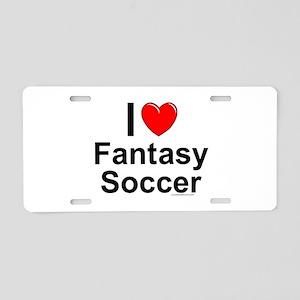 Fantasy Soccer Aluminum License Plate
