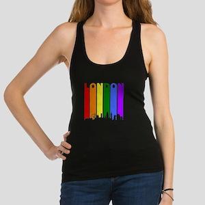 London Gay Pride Rainbow Cityscape Racerback Tank