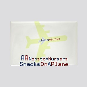 Snacks on a Plane Rectangle Magnet