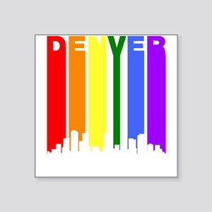 Denver Gay Pride Rainbow Cityscape Sticker