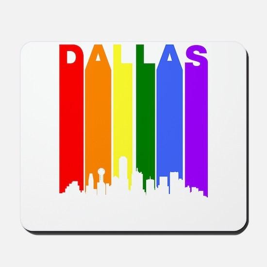 Dallas Gay Pride Rainbow Cityscape Mousepad