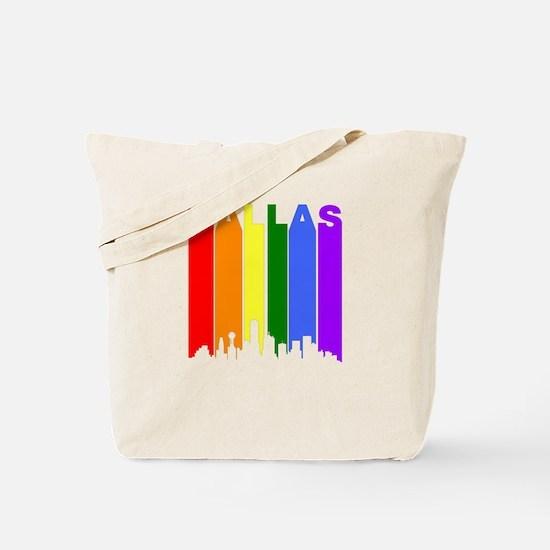 Dallas Gay Pride Rainbow Cityscape Tote Bag