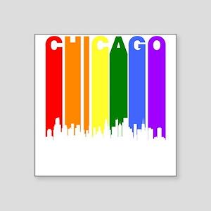 Chicago Gay Pride Rainbow Cityscape Sticker