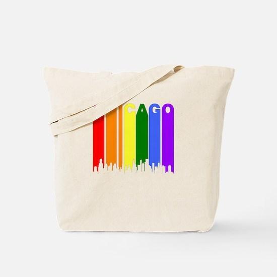 Chicago Gay Pride Rainbow Cityscape Tote Bag