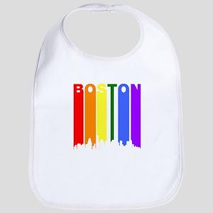 Boston Gay Pride Rainbow Cityscape Bib