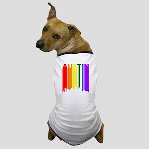 Austin Gay Pride Rainbow Cityscape Dog T-Shirt
