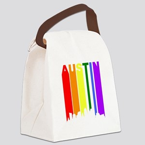 Austin Gay Pride Rainbow Cityscape Canvas Lunch Ba