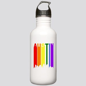 Austin Gay Pride Rainbow Cityscape Water Bottle