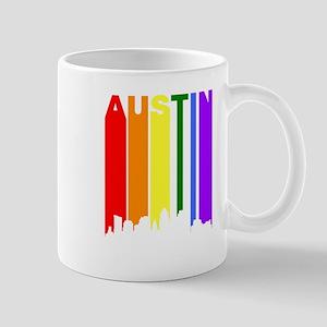 Austin Gay Pride Rainbow Cityscape Mugs