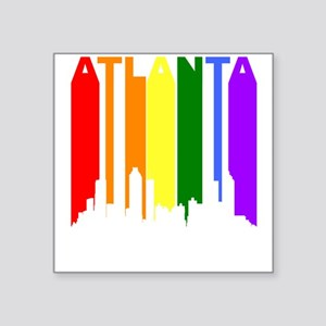 Atlanta Gay Pride Rainbow Cityscape Sticker