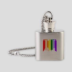 Atlanta Gay Pride Rainbow Cityscape Flask Necklace