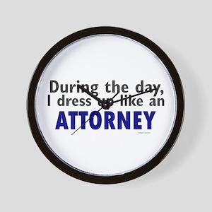Dress Up Like An Attorney Wall Clock