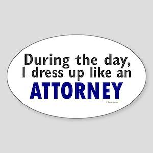 Dress Up Like An Attorney Oval Sticker