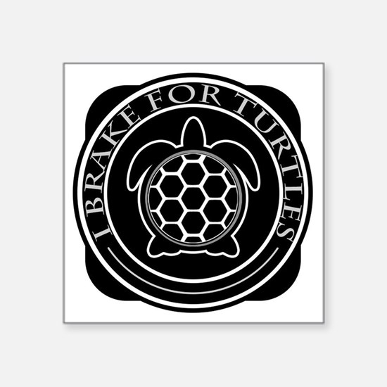 "Cute For turtles Square Sticker 3"" x 3"""
