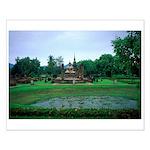 Buddha & Lotus Pool Small Poster