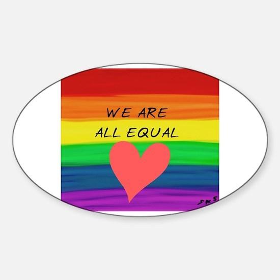 Gay christmas Sticker (Oval)