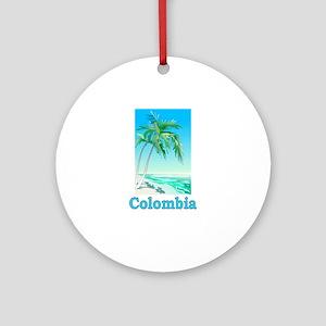 Colombia Ornament (Round)