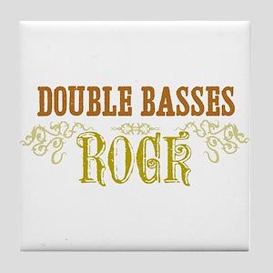 Double Basses Tile Coaster