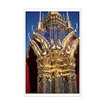 Azure Glass & Gold Mini Poster Print