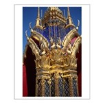 Azure Glass & Gold Small Poster