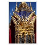 Azure Glass & Gold Large Poster