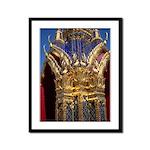 Azure Glass & Gold Framed Panel Print