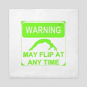 Warning may flip Gymnastics Queen Duvet