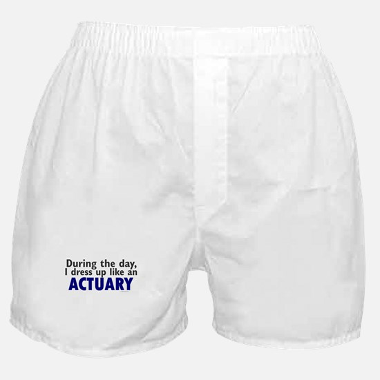 Dress Up Like An Actuary Boxer Shorts