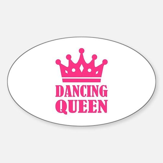 Dancing queen Sticker (Oval)