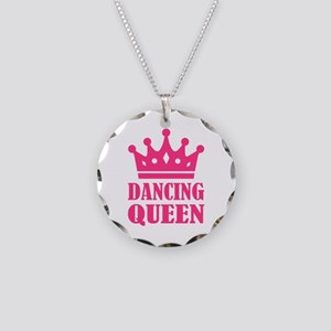 Dancing queen Necklace Circle Charm