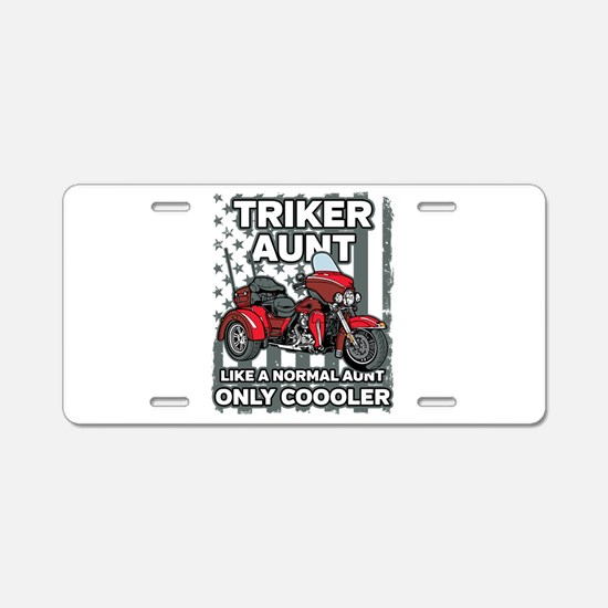 Motorcycle Triker Aunt Aluminum License Plate