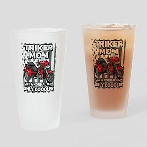 Motorcycle Triker Mom Drinking Glass