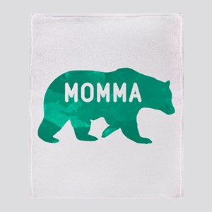 Momma Bear Throw Blanket