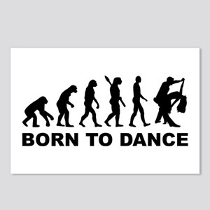 Evolution dancing born to Postcards (Package of 8)