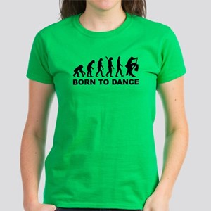 Evolution dancing born to dan Women's Dark T-Shirt
