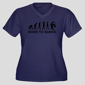 Evolution da Women's Plus Size V-Neck Dark T-Shirt