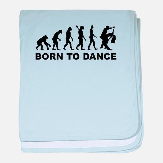 Evolution dancing born to dance baby blanket