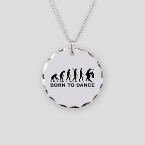Evolution dancing born to da Necklace Circle Charm