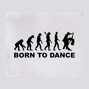Evolution dancing born to dance Throw Blanket