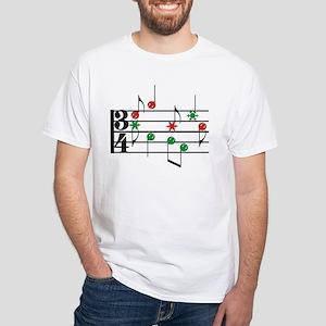 Christmas Music White T-Shirt