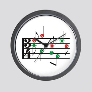Christmas Music Wall Clock