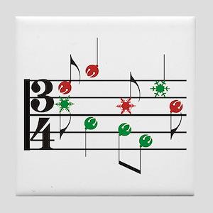 Christmas Music Tile Coaster
