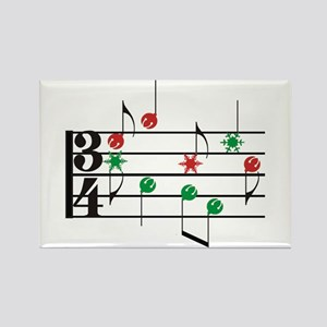Christmas Music Rectangle Magnet