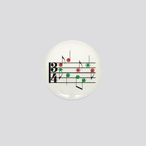 Christmas Music Mini Button