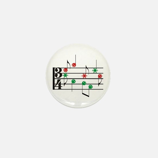 Christmas Music Mini Button