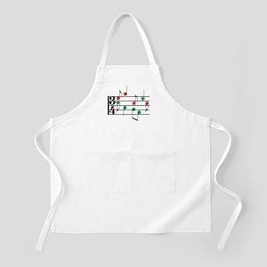Christmas Music BBQ Apron