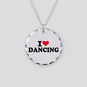 I love dancing Necklace Circle Charm