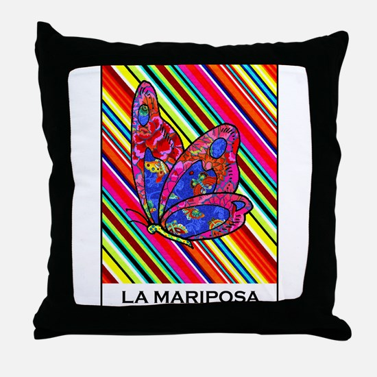 La Mariposa Throw Pillow