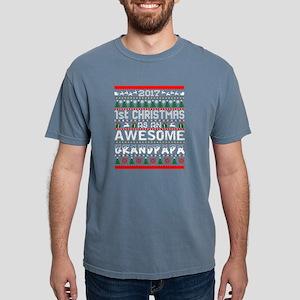 2017 First Christmas Awesom Grandpapa Ugly T-Shirt